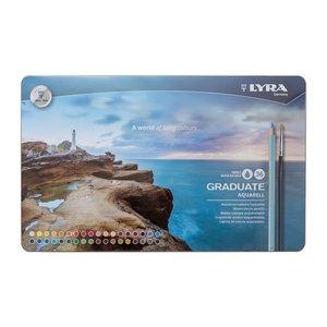 Lyra Graduate Aquarell Pensil Warna- Tin Box - Pensil Warna Isi 36