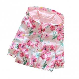 Jaket Hoodie Motif Print Bunga untuk Perempuan
