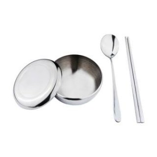 Tanica Sendok Sumpit Mangkuk Korea Set – Peralatan Makan