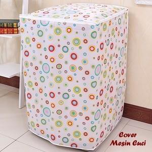 Cover Mesin Cuci Satin Satu Tabung Anti Air & Panas Bahan Tebal Bagus Aneka Motif