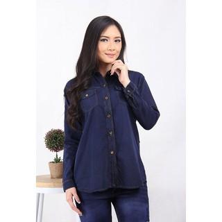 AP Kemeja Panjang Wanita Jeans - 3302