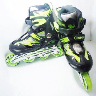 Sepatu Roda Cougar Inline Skate MZS835L Balck Green Go