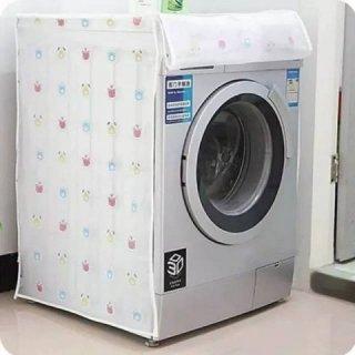 Cover Plastik Motif Aneka Karakter Pelindung Mesin Cuci Anti Air Bukaan Depan Bahan Peva Murah