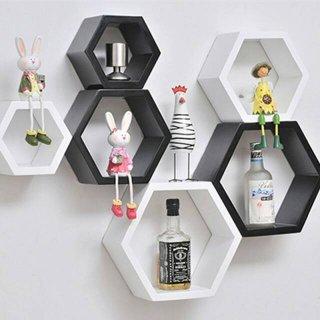 Rak Dinding 1 set 3 pc honeycomb wall shelves