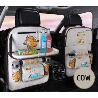 Car Seat Organizer Jok Mobil Multifungsi Karakter Premium Dengan Meja