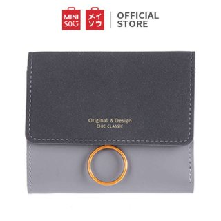 Dompet Miniso Retro Short Frosted Wallet