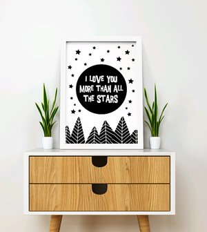 Wall Decor Frame Poster Quotes