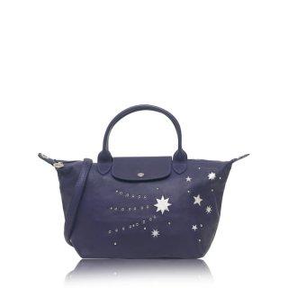 Longchamp Le Pliage Cuir Etoile Star Small Satchel Leather