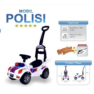 Mobil Dorong Polisi