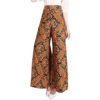 Miracle Shop Geva Batik Long Kulot Pants Wanita