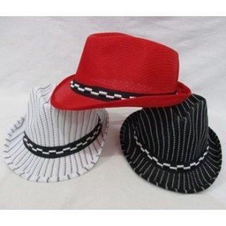 Topi Fedora Panama Garis