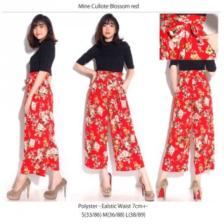 MINE Blossom Red Cullote Pants