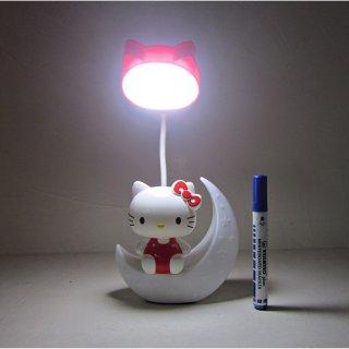 Lampu Belajar + Cermin Bulan Hello Kitty