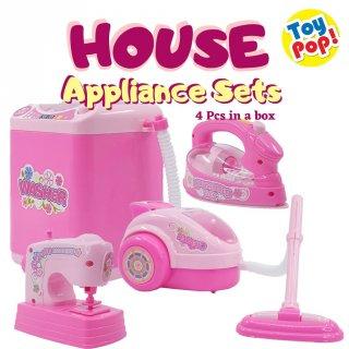Mainan Peralatan Elektronik di Rumah Set Isi 4 pcs pakai Baterai Household Appliance