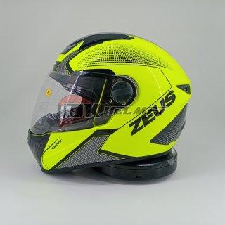 Helm Full Face Zeus Motif ZS 811 Fluo Yellow