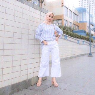 kulot jeans putih