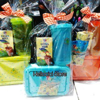 Parcel Snack Lunch Box dan Botol Minum Ulang Tahun
