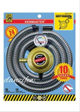 KENMASTER PAKET REGULATOR METER + SELANG GAS PROTEC