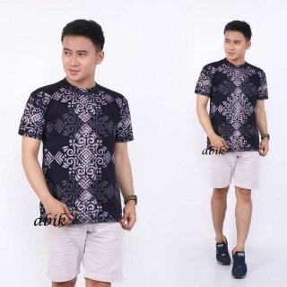 Kaos Batik Cap Kotak
