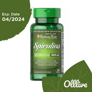 Puritan Spirulina 500 mg