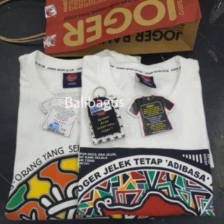 Kaos Joger Bali Original (Khusus Putih) - Putih