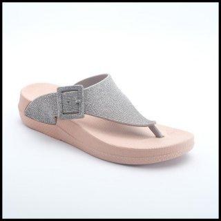CPE - SLP 089 (Silver & Navy) Women Heels Sandal