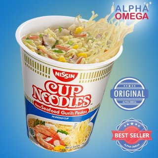 Nissin Cup Noodle Rasa Seafood Gurih Pedas
