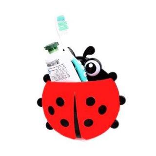 Lady Bug Holder Tooth Brush - Tempat Sikat Gigi Kumbang Rak Sikat Gigi Tempat Odol Sikat Gigi Holder Kumbang Multifungsi