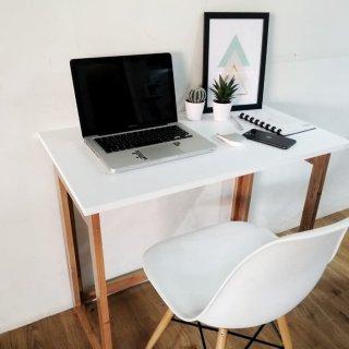 Meja Belajar - meja kerja minimalis kayu jati