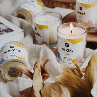 MUNO Folk 100% Soybean Wax Organic Scented Candle Aromatherapy