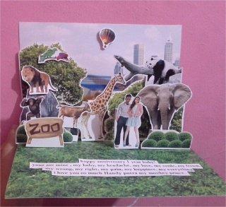 Pop-up Card ukuran A4