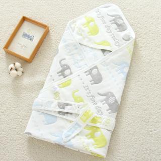 Ecobaby Baby Blanket Selimut Bayi 90*90 cm Motif Gajah EMB0307