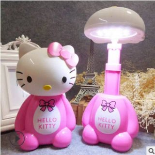 Lampu LED Portable Baca Meja Belajar Kamar Karakter Kartun Doraemon Hello Kitty