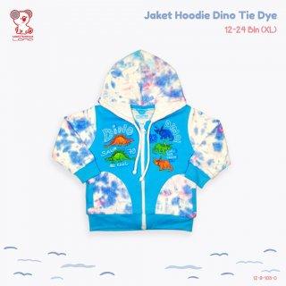 Baby Lona Dino Tie Dye Jaket Hoodie Anak Bayi 1-2 Tahun