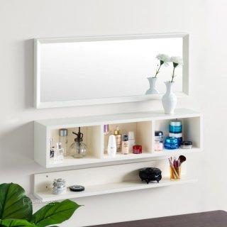 iFurnholic Mason Wall Organizer Set Of 3 - Cermin dengan Rak Dinding