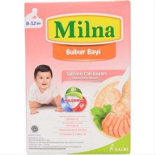Milna Bubur Bayi Salmon Cah Bayam