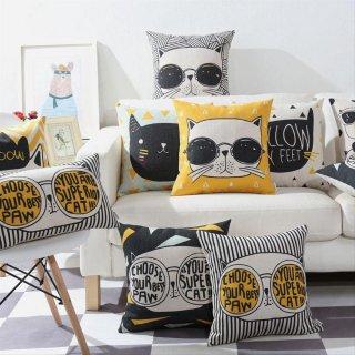 Modern Bantal Minimalis, Hitam Dan Putih Emas Ins Nordic Bantal Sofa