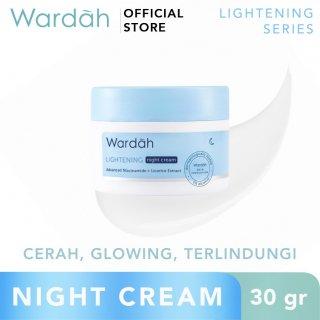 Wardah- Lightening Night Cream Advanced Niacinamide 30 g