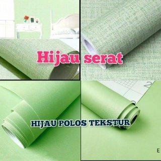 Wallpaper Dinding Hijau Polos Tekstur Serat