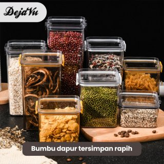Dejavu Toples Penyimpanan Cereal Kontainer Makanan Storage Jar Food Tempat Bumbu Wadah Snack HSB139