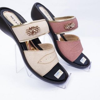 Sandal Wedges Slip Wanita Sendal Selop Mulan BAH-921