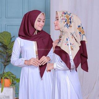 Hijab Instant Bolbal Premium Satin Mix Diamond Crepe High Quality