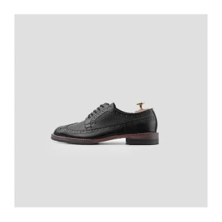 Portee Goods Shoes Derby Long Wing Black