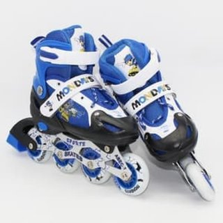 Sepatu Roda 8 Ban Full Flash Deker Pelindung Inline Skate