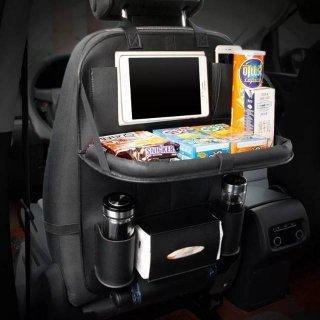 Car Seat Organizer Plus Meja Lipat Kulit TEBAL