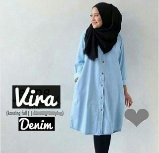 Baju Tunik Denim Vira
