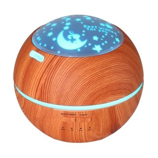 Wooden Romantic Projection Aroma Diffuser Humidifier