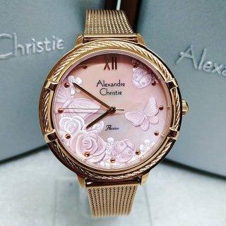 Jam Tangan Wanita Alexandre Christie 2873LH Rosegold Pink