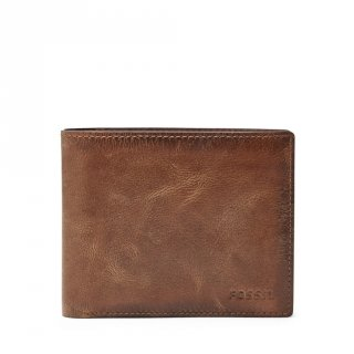 Fossil Derrick Leather Bifold Wallet