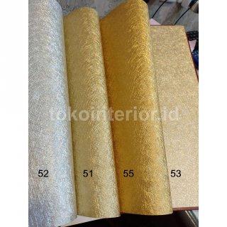 Wallpaper Dinding Polos Tekstur wrn Metalik Gold Rose Silver